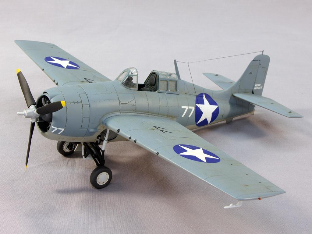 Grumman F4F-4 Wildcat in marking of Lt. James E Swett VMF-221, Guadalcanal, April 1943